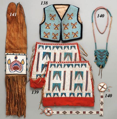 A PAIR OF PLAINS CREE BEADED C