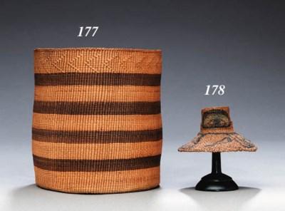 A HAIDA MINIATURE TWINED HAT