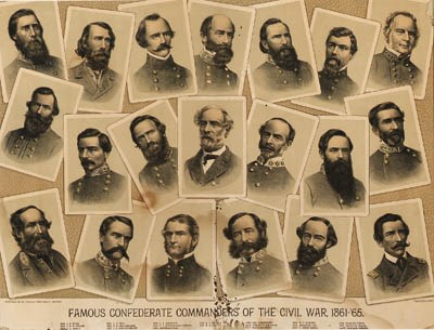 A FRAMED COLLAGE OF CONFEDERAT