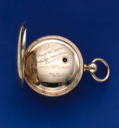 AN AMERICAN PRESENTATION WATCH by The American Watch Co., 1866