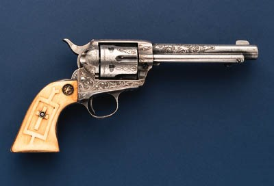 A FACTORY ENGRAVED .45 COLT SI