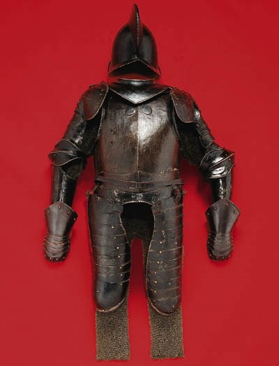 A COMPOSED SUIT OF ARMOUR IN T