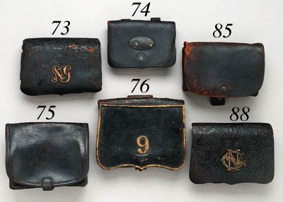 A CONFEDERATE CARTRIDGE POUCH
