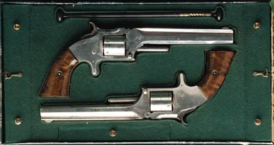 A CASED PAIR OF .32 RF SMITH &