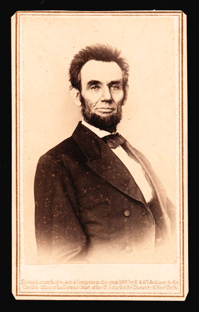 [LINCOLN, ABRAHAM]. WALKER, LE