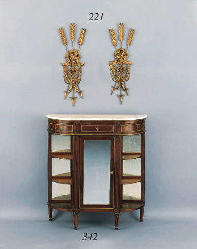 A PAIR OF EMPIRE GILTWOOD AND