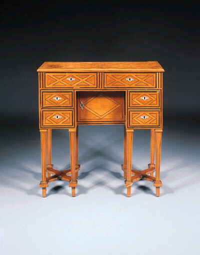 A LOUIS XIV FRUITWOOD AND PARQ