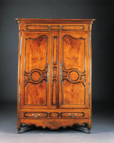 A LOUIS XV STYLE INLAID FRUITW