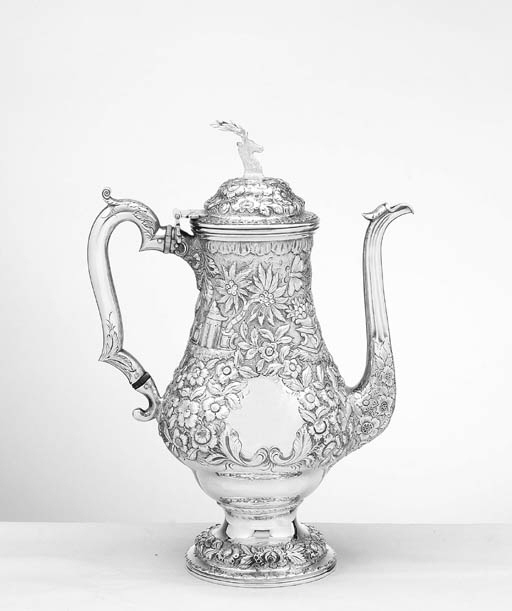 AN AMERICAN SILVER LARGE COFFE