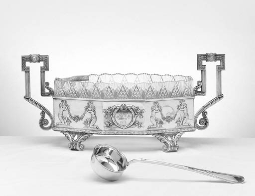 A RUSSIAN SILVER PUNCH BOWL WI