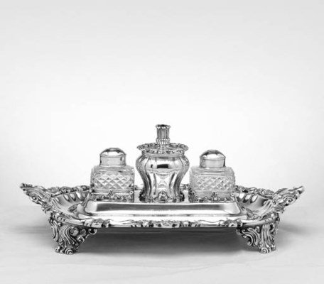 AN INDIAN COLONIAL SILVER PRES