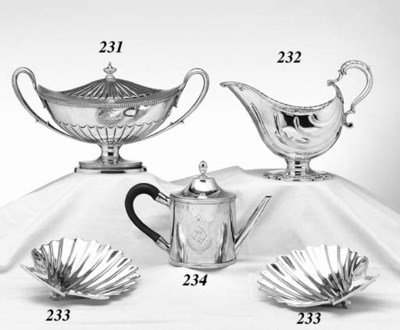 A GEORGE III SILVER ARGYLE-FOR