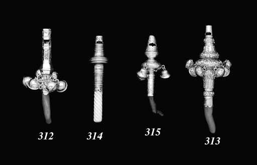 A CHARLES II SILVER WHISTLE, B