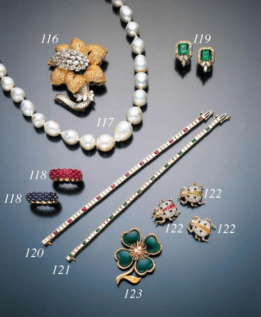DIAMOND AND RUBY LINE BRACELET