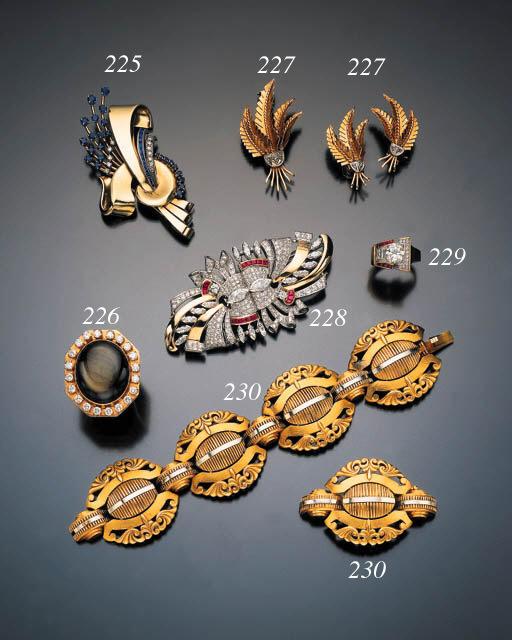 RETRO DIAMOND RUBY AND GOLD DO