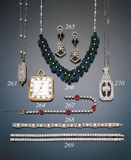 DIAMOND, SAPPHIRE AND PLATINUM