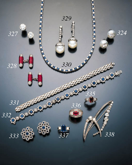 DIAMOND AND SAPPHIRE LINE NECK