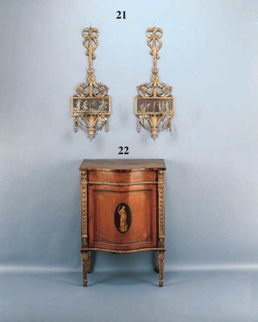 A GEORGE III STYLE PARCEL-GILT