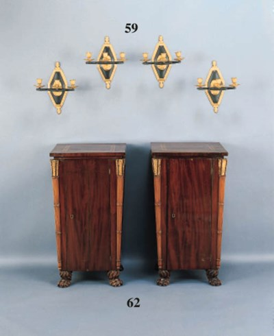 A SET OF FOUR CHARLES X STYLE