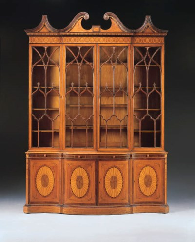 AN EDWARDIAN INLAID SATINWOOD