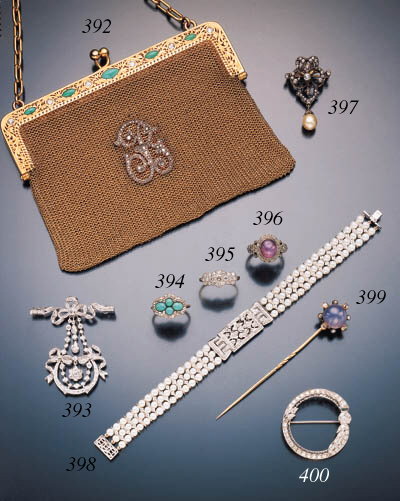 ANTIQUE DIAMOND AND PEARL PEND