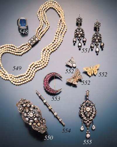 ANTIQUE PEARL AND DIAMOND NECK