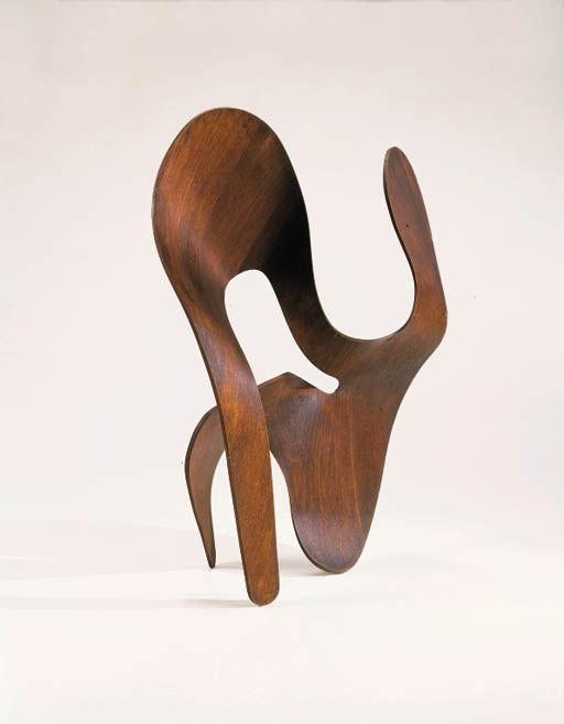A FINE AND RARE MOLDED PLYWOOD SCULPTURE