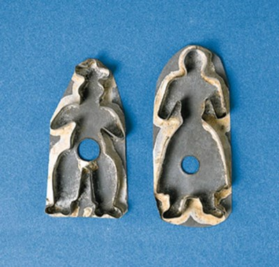 A PAIR OF TINNED SHEET METAL C
