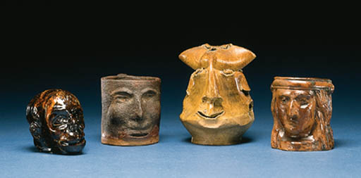 A GROUP OF EARTHENWARE VESSELS