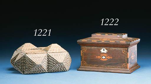 A CARVED TRAMP ART BOX