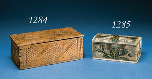 A CARVED WOOD BOX