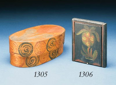 A PAINTED WOOD BOX