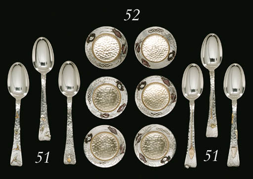 A SET OF TWELVE SILVER AND MIX