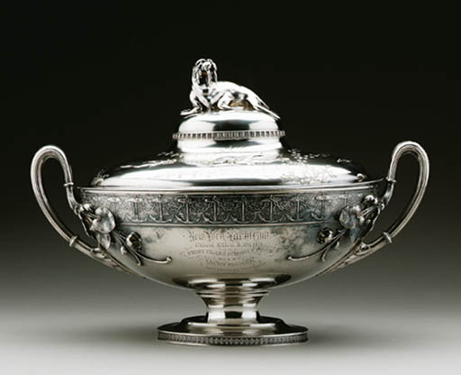 A SILVER YACHT TROPHY TUREEN A