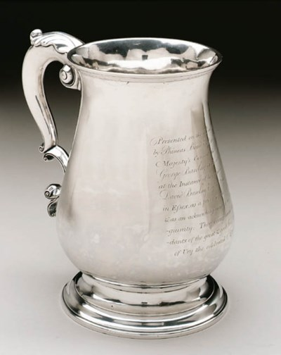 A LARGE SILVER CANN OF HISTORI