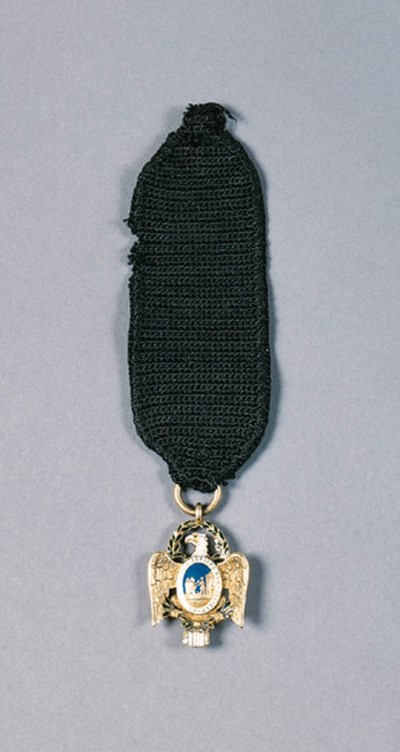 A GOLD AND ENAMEL SOCIETY OF T