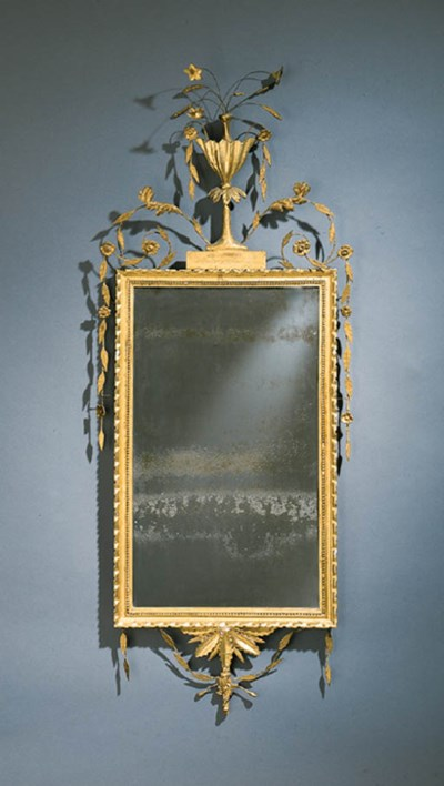 A FEDERAL CARVED GILTWOOD LOOK