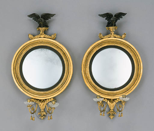 A PAIR OF CLASSICAL GILTWOOD G