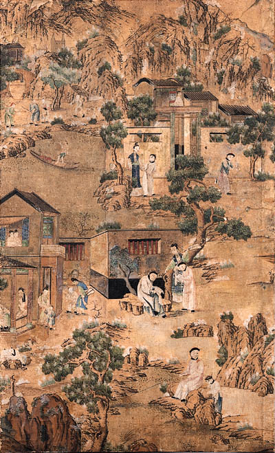A PAIR OF CHINESE PANELS DEPIC