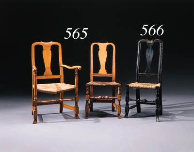 TWO QUEEN ANNE MAPLE CHAIRS