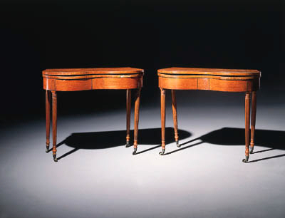 A PAIR OF FEDERAL CARVED CHERR