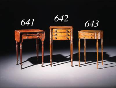 A FEDERAL MAHOGANY WORK TABLE