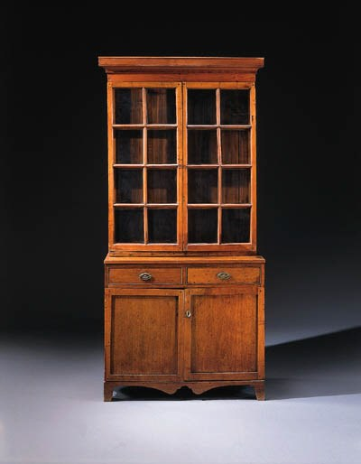 A LATE FEDERAL FRUITWOOD DESK-