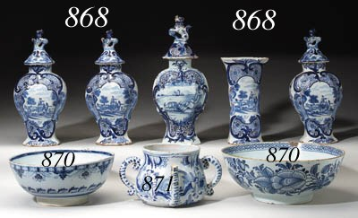 AN ASSEMBLED DUTCH DELFT BLUE