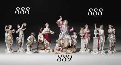 A MEISSEN FIGURE GROUP EMBLEMA