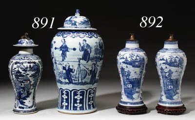 TWO CHINESE BLUE AND WHITE BAL