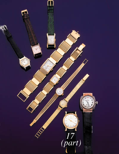 MOVADO AND TOUCHON.  A LOT OF TWO GOLD WRISTWATCHES