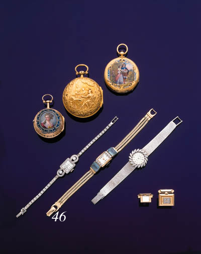 CABO. A LADY'S 14K GOLD, DIAMOND AND AQUAMARINE-SET RECTANGULAR WRISTWATCH