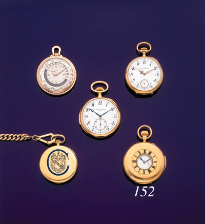 ENGLISH.  AN 18K GOLD MINUTE R