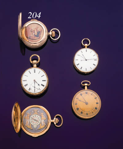 SWISS. AN 18K PINK GOLD QUARTER REPEATING KEYLESS LEVER HUNTER CASED WATCH WITH LATER ADDED HIDDEN JACQUEMART-STYLE EROTICA
